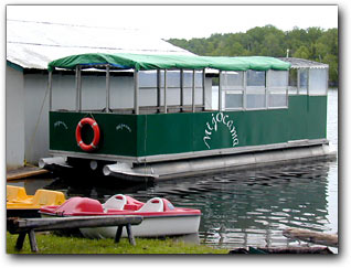 We offer pontoon ride & pedalo rental.