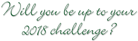 Will you be up to your 2018 challenge?