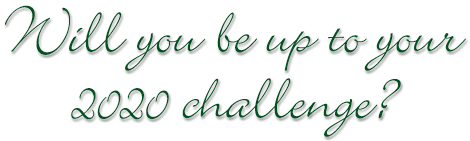 Will you be up to your 2020 challenge?